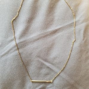 Gold plated bar necklace.
